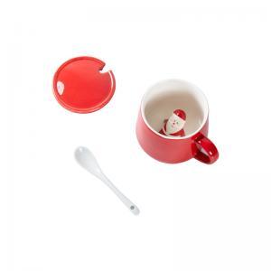 Quality Glaze 350ml 13x9.5x9cm Christmas Ceramic Mugs for sale
