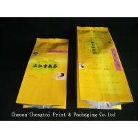 Quality Custom Tea Packaging Side Gusset Pouch With 105 Micron Thickness for sale