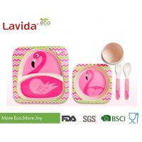 Buy cheap Free Heavy Metals Food Grade Bamboo Childrens Dinner Set , BPA Free 5 Pieces from wholesalers
