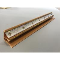 Buy Top Cornice PVC Extrusion Profiles Applique Brown Color Long Service Life at wholesale prices