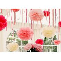 China Tissue Paper Pom Poms Flower Ball Latest Wedding  and Party Decoration on sale