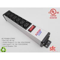 Quality 6 Outlet Flat Plug Power Strip Metal PDU With Overload Protector IEC Approved for sale