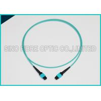 Quality 3.0mm 100Gbps 24F MPO MTP Mating Fiber Optical Multimode OM3 Trunk Method B Patch Cable for sale