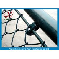 Quality Link Fence Stable China Link Mesh Electric Galvanized And PVC Coated Dark Green for sale