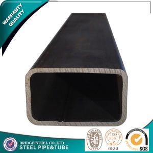 Quality 16Mn STK500 STK400 Annealed Square Steel Pipe ,  Bridge ERW Steel Tube for sale