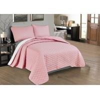 Quality Beautiful Pink Quilted Coverlet Custom Made Bedspreads Full Size Bedspread for sale