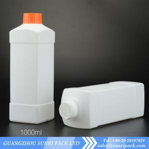 High qulity 1000ml plastic HDPE bottles for liquid 1000ml detergent bottle