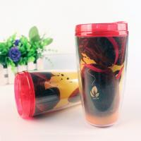 China Custom Portable Sport and Travel Glass Plastic Water Bottle 500ml on sale