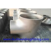 China Nickel Alloy ASTM B163 NO8020 Equal Tee Butt Weld Pipe Fittings on sale