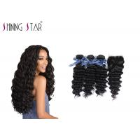 Buy Deep Curly Unprocessed Remy Hair Extensions Weave For Black Woman 350g at wholesale prices