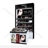 Quality Cosmetic Showcase, Acrylic Makeup Display case, slatwall Cosmetic Storage box Cabinet for sale