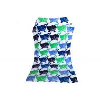 Quality Pretty Fish Sunbed Cotton Beach Blanket / Lounge Chair Beach Towels Bright Color for sale