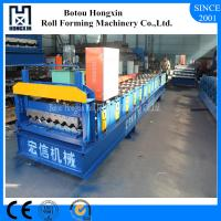 China Electrical Motor Corrugated Roof Sheeting Machine 1000mm Raw Material Width on sale
