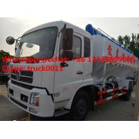 Quality 2017s best price 20m3 hydraulic poultry feed truck for sale, factory sale dongfeng LHD/RHD 10tons hydraulic feed truck for sale