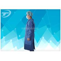 Knitted Wrist PP PE Disposable Scrub Suits Isolation Gowns Water Resistant