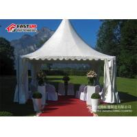 Quality Elegant White Marquee Tent High Peak Shape With Wooden Floor Long Span Life for sale