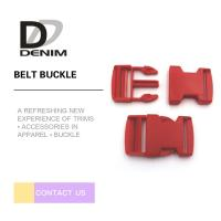 China Red DTM Clothing Plastic Belt Buckle Bulk Buttons Fashion Bag Accessories on sale