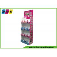 Quality Floor Standing Cardboard Shelving Displays , Cut Out Shape Retail Display Stands FL164 for sale