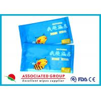 Buy cheap Single Piece Baby Wet Wipes , 55gsm 10PCS / Bag Water Baby Wipes No Fragrance Mini Size from wholesalers