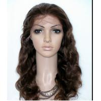 "Quality 30"" 32"" 38"" Curly Human Hair  Lace Front Wigs , Peruvian Hair Wigs 180 Grams for sale"