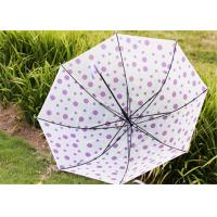 Quality Creative Candy Color Polka Dot Umbrella Long Handle Green Frosted Color for sale