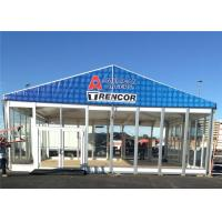 Quality 20m * 20m Large Temporary Outdoor Glass Wall Tents Exhibition Marquee for sale