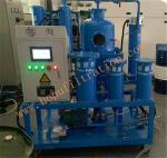Quality TY Turbine Oil Filtration Plant,PLC turbine oil purifier,Vacuum Lubricant Oil Regeneration Machine,Blue color for sale