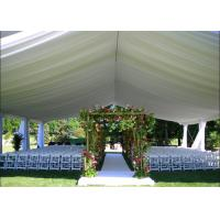 Quality 200 People Luxury Outdoor Wedding Tent With Decorations Water Retardant PVC Fabric for sale