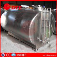 Quality Stainless Steel Milk Storage Tank Insulated Tank For Milk Transportation for sale