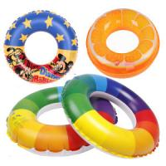 Quality EN71 / Reach5 PVC orange pringting Inflatable Swim Rings adults for sale