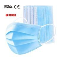 Quality Latex Free 3 Ply Disposable Face Mask , Non Woven Fabric Mask CE FDA Certificated for sale