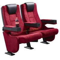 Quality Movable Astir Armrest Fireproof Fabric Cinema Theatre Seats With 2.0 Mm Thick Iron Steel Leg for sale