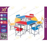 Quality Multi Functional Combination Student Desk And Chair Set With Steel Drawer for sale