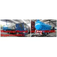 Quality Factory direct sale best price 2 axles 18-22cbm vacuum tank semitrailer customized for South America, vacuum sludge tank for sale