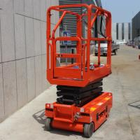 China Movable Stationary Electric Scissor Lift Folding Handle 230kg Lift Capacity on sale
