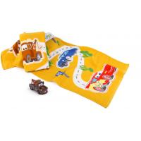 Quality Little Yellow Cars Customised Fluffy Printed Beach Towels with Size 60 X 120CM for sale