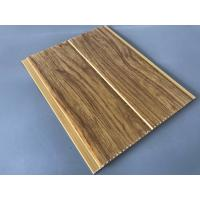 Quality 5mm Thickness Ceiling PVC Panels For Kitchen Two Golden Line Wooden Color for sale