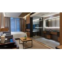 Buy 5 Star Luxury Hotel Bedroom Furniture King Size Headboard / Solid Walnut at wholesale prices