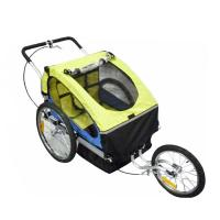 Quality Baby Double Bike Trailers right to left folding flat for storage 20 inch pneumatic wheels for sale
