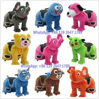 Quality Baby and Adults Love Coin Operated Kiddie Rides Battery Plush Animal Walking Rides In Shopping Mall for sale