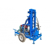 Quality 200m 450rpm Portable Hydraulic Water Well Drilling Rig For House Yard for sale