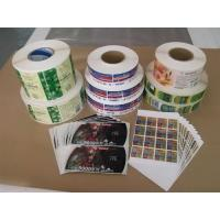 Quality Gravure Printing Plastic Adhesive Labels for Mass Printing Production for sale