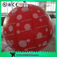 Quality Event Party Hanging Decoration Red 1m Inflatable Spot Balloon With LED Light for sale