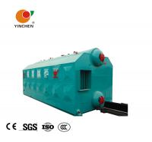 Quality Horizontal Coal Fired Hot Water Boiler / Biomass Boiler Efficiency 1.25 Mpa for sale