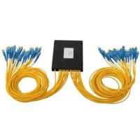 Quality 48 Core Fiber Optic Cable Accessories , Fiber PLC Splitter With FC SC ST Connector for sale