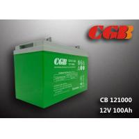 Quality CB121000 12v sla battery 100AH , Green slim deep cycle battery Plastic for sale
