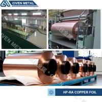 Quality GB/T2059--2000 High Precision Rolled Copper Foil For Electronic ROHS ISO9001 for sale