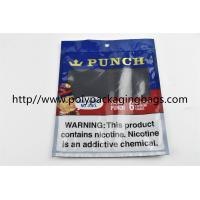 Quality Plastic Self Sealing Humidity Fresh Cigar Packaging Bag Resealable Ziplock Open And Close for sale