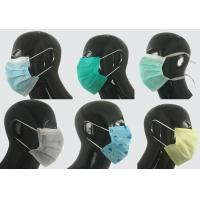 Buy cheap 2 ply Non-woven ear-loop,blue face mask for doctor and patient in hospital from wholesalers