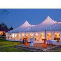 Quality Customized Size White PVC Tent Fabric Mixed  Marquee Party Tents For Outdoor Commercial Activity for sale